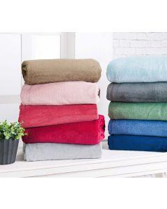 Manta Solteiro Fleece Liso 1,50 x 2,20 Andreza