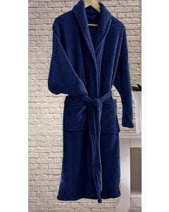 Roupão Unissex de Microfibra Home Design Corttex - Azul Marinho