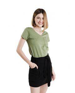 Blusa Feminina Flamê com Bolso Basic Soul - Verde