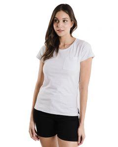 Blusa Feminina Básica com Bolso Basic Soul For Girl - Branco