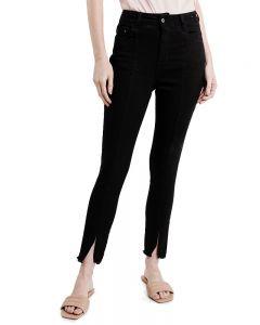 Calça Feminina Barra Desfiada Vizzy Jeans - Preto
