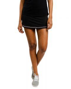 Short Saia Costura Contrastante - Preto