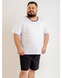 Pijama Masculino Plus Size Summer - Branco