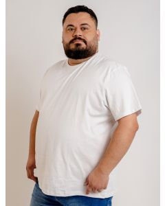 Camiseta Masculina Plus Size Básica Starfield - Branco
