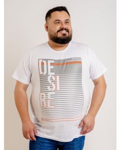 Camiseta Masculina Plus Size Estampada Starfield