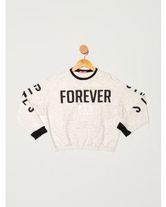 Blusa Moletom Juvenil Forever - Off white
