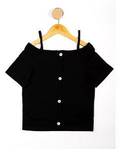 Blusa Infantil Menina Canelada com Botões