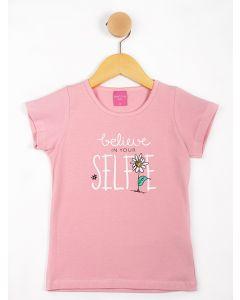 Blusa Infantil Menina Estampada - Rosa