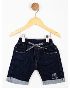 Bermuda Infantil Menino Lavagem Jeans - Azul