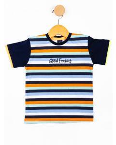 Camiseta Infantil Menino Listrada - Branco