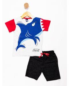 Conjunto Bebê Menino Tubarão
