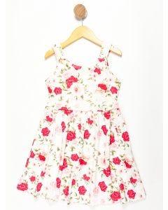 Vestido Infantil Floral - Branco