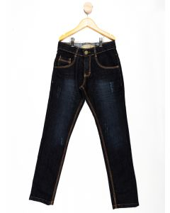 Calça Jeans Menino Lavagem Escura - Azul