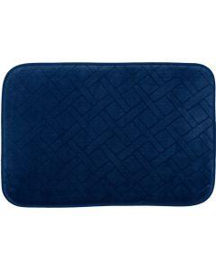 Tapete de Banheiro Verona 40cmx60cm Buchara - Azul Marinho